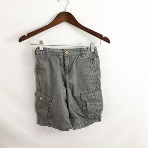 Lucky Brand Boys Gray Cargo Shorts Size 10